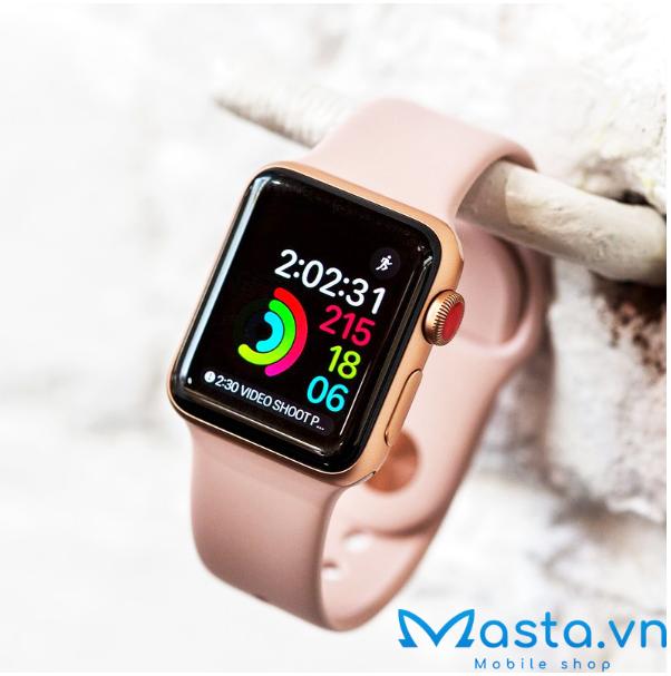 apple watch series 3 màu hồng